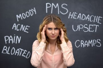 woman suffering from PMS