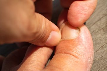 person picking nails